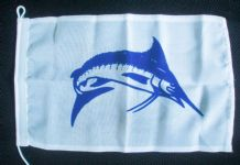 NAUTICAL FLAG : MARLIN  30cm x 20cm